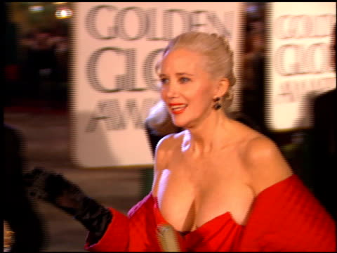 sally kirkland at the 1995 golden globe awards at the beverly hilton in beverly hills california on january 21 1995 - sally kirkland stock videos & royalty-free footage