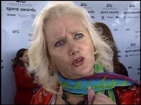 sally kirkland at the 2003 ifp independent spirit awards on march 22 2003 - ifp independent spirit awards stock videos and b-roll footage