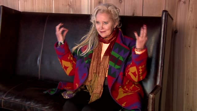 sally kirkland at the 2006 sundance film festival hp portrait studio presented by wireimage at wireimage studio in park city utah on january 22 2006 - sally kirkland stock videos and b-roll footage