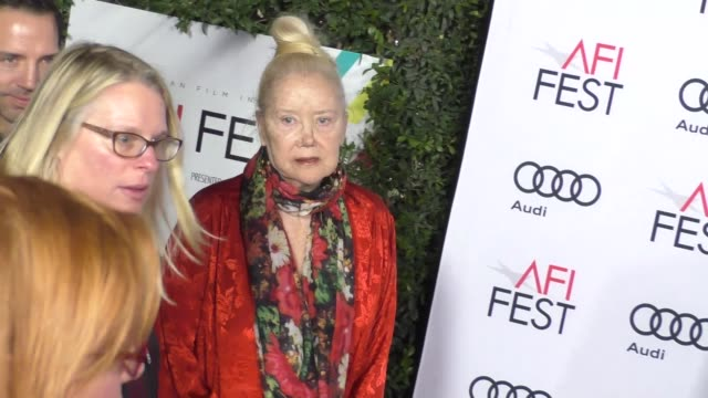 sally kirkland at the la la land screening afi fest 2016 at tcl chinese theatre on november 15 2016 in hollywood california - sally kirkland stock videos & royalty-free footage