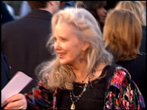 sally kirkland at the 'life' premiere at the mann village theatre in westwood california on april 14 1999 - sally kirkland stock videos & royalty-free footage