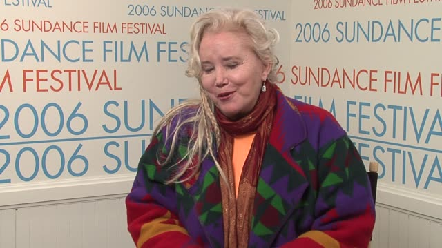sally kirkland on the death of her friend shelly winters at the 2006 sundance film festival wireimage video studio at wireimage studio in park city... - sally kirkland stock videos & royalty-free footage