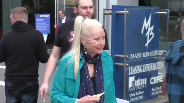 sally kirkland outside the 2018 film independent filmmaker grant spirit award nominees brunch at boa steakhouse in west hollywood in celebrity... - sally kirkland stock videos and b-roll footage