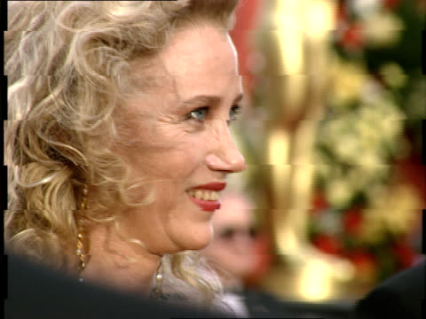 sally kirkland poses for photographers on the red carpet at the 64th annual academy awards - sally kirkland stock videos & royalty-free footage