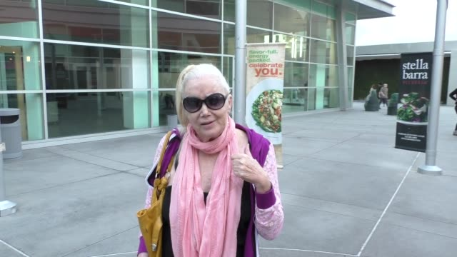 interview sally kirkland talks about bernie sanders as she goes to see hail caesar at arclight theatre in hollywood in celebrity sightings in los... - sally kirkland stock videos and b-roll footage