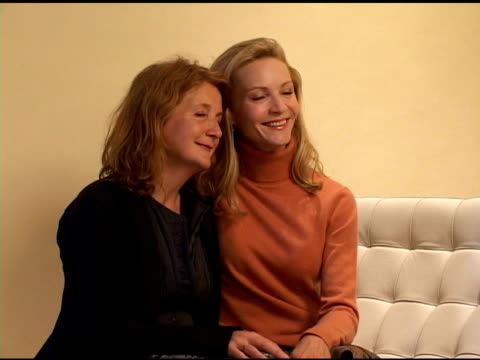 sally potter and joan allen at the 2004 toronto international film festival 'yes' portraits at intercontinental in toronto ontario on september 13... - joan allen stock videos and b-roll footage