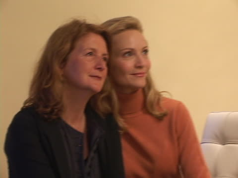 sally potter and joan allen at the 2004 toronto international film festival yes portraits at intercontinental in toronto ontario - joan allen stock videos and b-roll footage