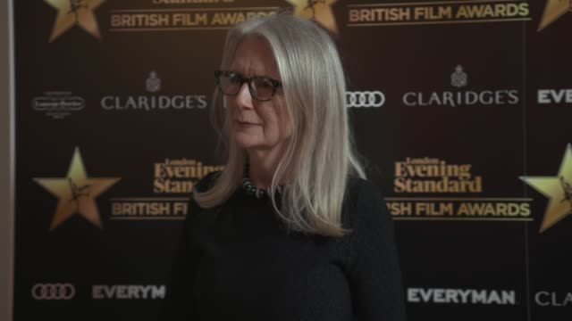 sally potter at evening standard british film awards at claridge's hotel on february 8, 2018 in london, england. - 映画賞点の映像素材/bロール