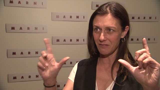 interview sally singer of vogue talks about what she loves about marni fashion at marni fragrance launch at tbd on february 05 2013 in new york new... - marni stock videos & royalty-free footage