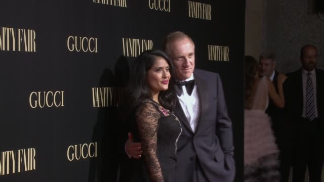 Salma Hayek and Francois Henri Pinault attend 'Vanity Fair's Personality of the Year' Awards at Royal Theatre