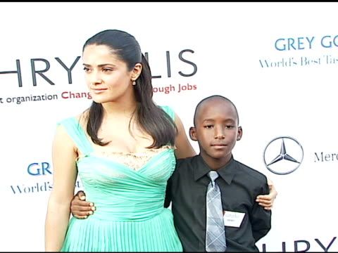 salma hayek and perry nichols at the chrysalis' fifth annual butterfly ball at private residence in bel air california on june 10 2006 - salma hayek stock videos and b-roll footage