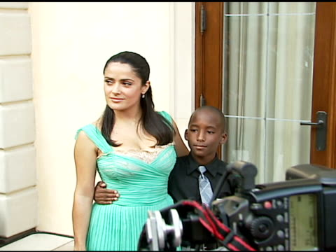 salma hayek and perry nichols at the chrysalis' fifth annual butterfly ball at private residence in bel air, california on june 10, 2006. - salma hayek stock videos & royalty-free footage