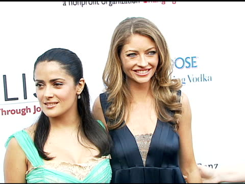 salma hayek and rebecca gayheart at the chrysalis' fifth annual butterfly ball at private residence in bel air california on june 10 2006 - salma hayek stock videos and b-roll footage