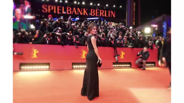 berlin germany february 26 salma hayek arrives for the the roads not taken premiere during the 70th berlinale international film festival berlin at... - gif stock videos & royalty-free footage