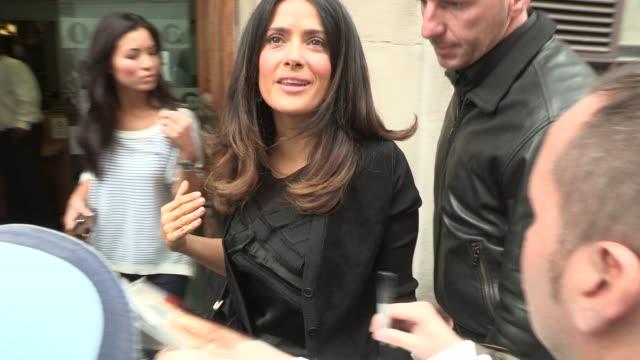 salma hayek at bbc radio on september 20 2012 in london england - salma hayek stock videos and b-roll footage