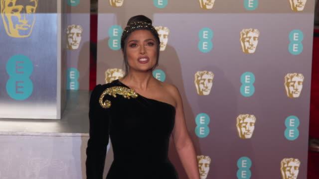 salma hayek at ee british academy film awards 2019 at royal albert hall on february 10, 2019 in london, england. - salma hayek stock videos & royalty-free footage