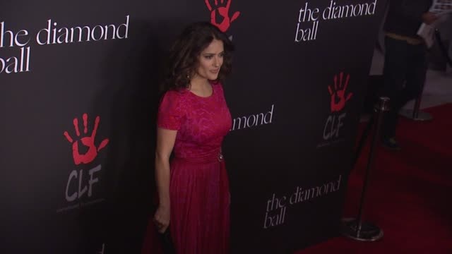 salma hayek at rihanna's first annual diamond ball benefitting the clara lionel foundation at the vineyard on december 11 2014 in beverly hills... - salma hayek stock videos and b-roll footage