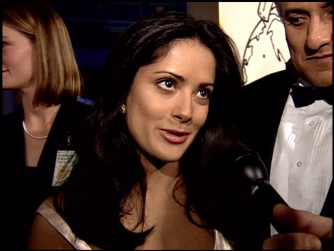 salma hayek at the 1995 golden globe awards at the beverly hilton in beverly hills, california on january 21, 1995. - salma hayek stock videos & royalty-free footage