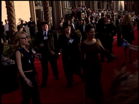salma hayek at the 2003 screen actors guild sag awards at the shrine auditorium in los angeles, california on march 9, 2003. - shrine auditorium stock videos & royalty-free footage