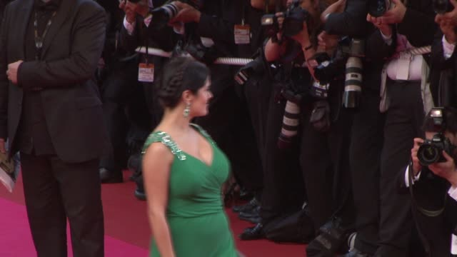 """salma hayek at the 2008 cannes film festival - """"indiana jones and the kingdom of the crystal skull"""" world premiere in cannes on may 18, 2008. - salma hayek stock videos & royalty-free footage"""