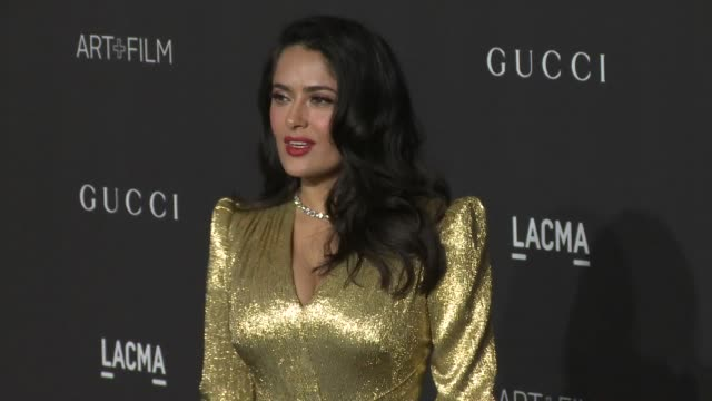 salma hayek at the 2018 lacma art + film gala honoring catherine opie + guillermo del toro and presented by gucci at lacma on november 03, 2018 in... - salma hayek stock videos & royalty-free footage
