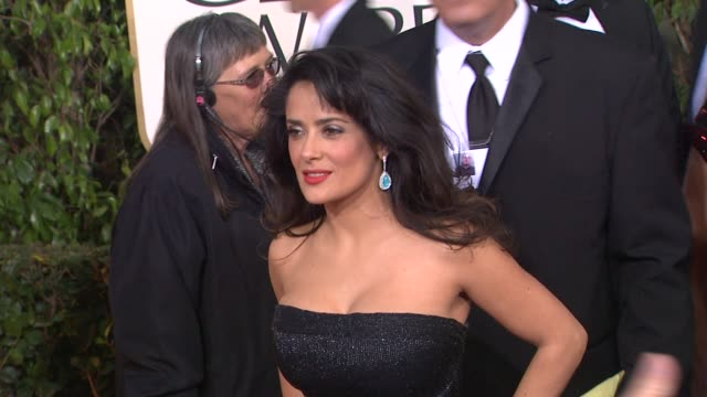 Salma Hayek at the 70th Annual Golden Globe Awards Arrivals in Beverly Hills CA on 1/13/13
