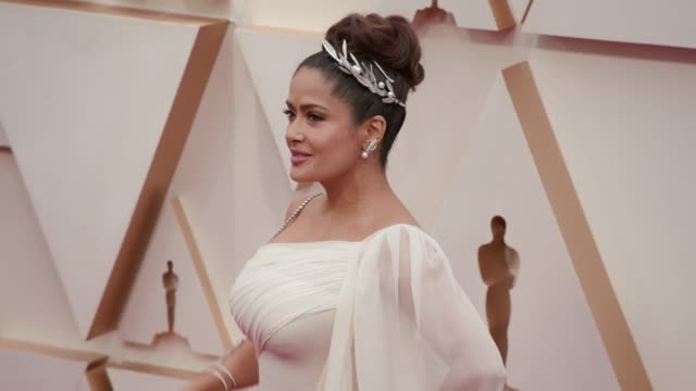 salma hayek at the 92nd annual academy awards at dolby theatre on february 09, 2020 in hollywood, california. - salma hayek stock videos & royalty-free footage