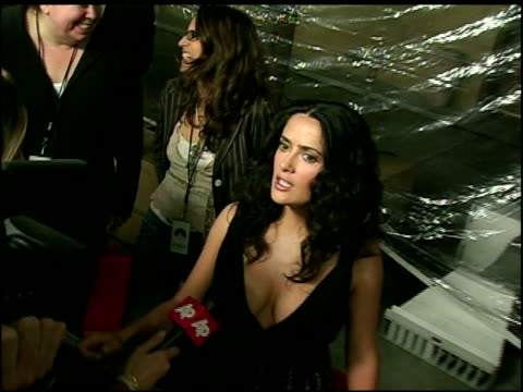 salma hayek at the 'ask the dust' los angeles premiere arrivals at the egyptian theatre in hollywood, california on march 3, 2006. - salma hayek stock videos & royalty-free footage