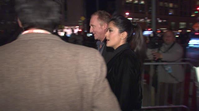 stockvideo's en b-roll-footage met salma hayek at the 'broken embraces' premiere closing night of the new york film festival at new york ny - salma hayek