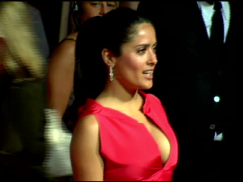 salma hayek at the cartier and interview magazine celebration of love at the cartier mansion in new york new york on june 8 2006 - salma hayek stock videos and b-roll footage