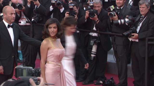 salma hayek at the closing night/the tree red carpet cannes film festival 2010 at cannes - salma hayek stock videos and b-roll footage