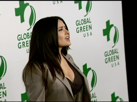 Salma Hayek at the Global Green USA's 5th Annual PreOscar Party at NULL in Hollywood California on February 20 2008