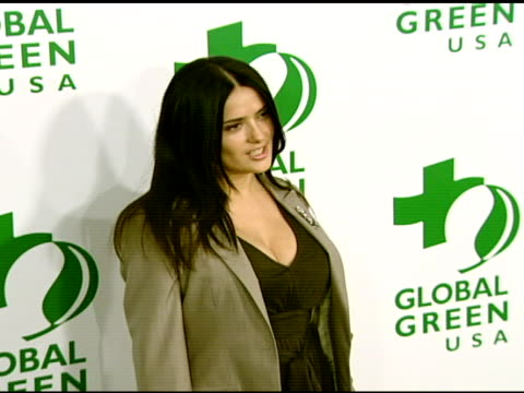 salma hayek at the global green usa's 5th annual preoscar party at null in hollywood california on february 20 2008 - pre party stock videos and b-roll footage
