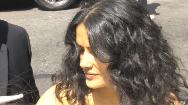 stockvideo's en b-roll-footage met salma hayek at the 'late show with david letterman' studio salma hayek at the 'late show with david letterman on july 10 2013 in new york new york - salma hayek