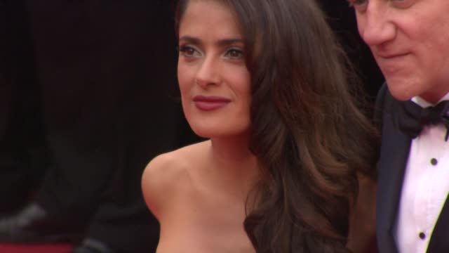 stockvideo's en b-roll-footage met salma hayek at the opening night midnight in paris premiere 64th cannes film festival at cannes - salma hayek