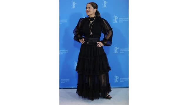 berlin germany february 26 salma hayek at the the roads not taken photo call during the 70th berlinale international film festival berlin at grand... - photo call stock videos & royalty-free footage