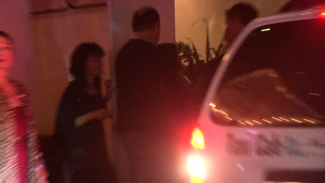 stockvideo's en b-roll-footage met salma hayek at w magazine's party at chateau marmont in west hollywood in celebrity sightings in los angeles - salma hayek