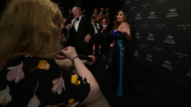 salma hayek attends the kering women in motion awards during the 74th annual cannes film festival on july 11, 2021 in cannes, france. - salma hayek stock videos & royalty-free footage