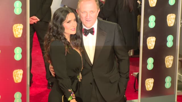 Salma Hayek FrancoisHenri Pinault at Royal Albert Hall on February 18 2018 in London England