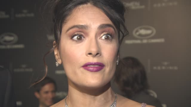 stockvideo's en b-roll-footage met interview salma hayek francoishenri pinault on the achievements of 'women in motion' and on women in the film industry at kering women in motion... - salma hayek