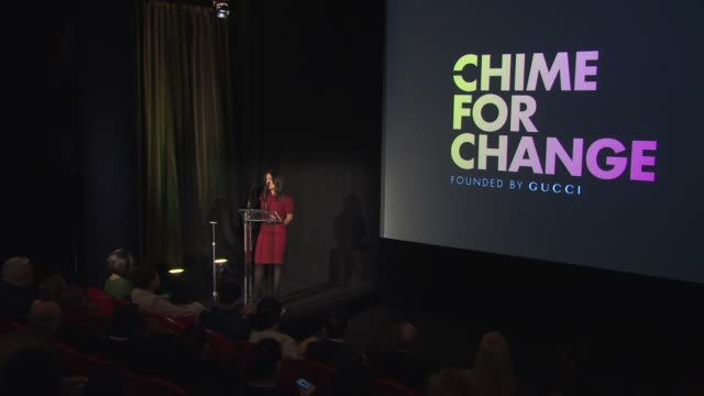 stockvideo's en b-roll-footage met conference salma hayek on chime for change at the chime for change launch event on the 27th of march 2013 - salma hayek