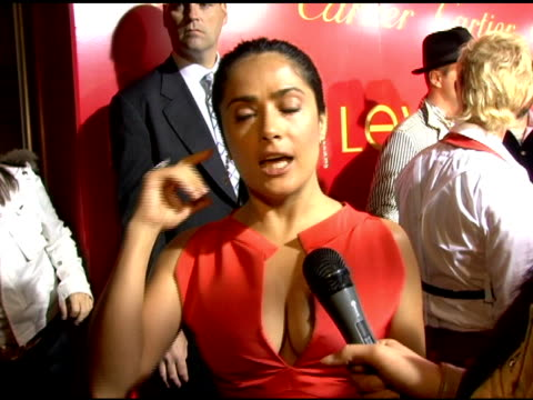 Salma Hayek on her charity for women's rights and the women of Juarez at the Cartier and Interview Magazine Celebration of Love at the Cartier...