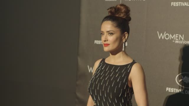 salma hayek pinault at kering official cannes dinner at place de la castre on may 17 2015 in cannes france - salma hayek stock videos and b-roll footage