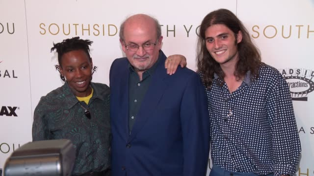 Salman Rushdie and guests at Southside With You screening at Sunshine Landmark on August 24 2016 in New York City