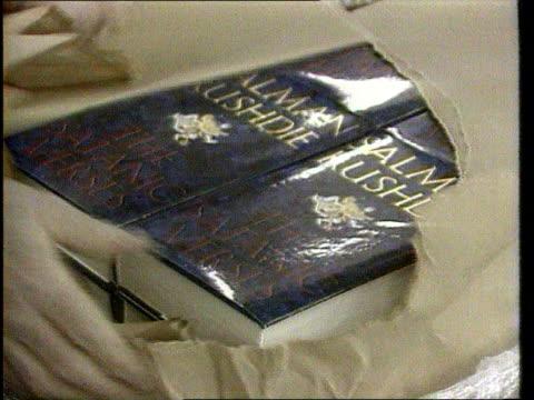 Salman Rushdie honours backlash LIB Parcel containing hardback copies of 'The Satanic Verses' opened