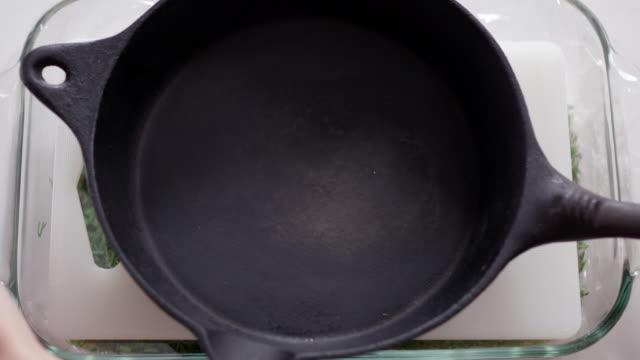 salmon gravlax recipe - cast iron stock videos and b-roll footage