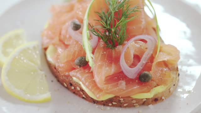 salmon gravlax recipe - plate stock videos & royalty-free footage