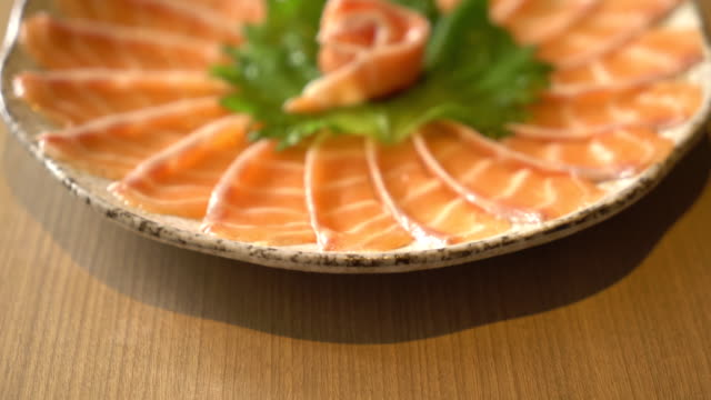 salmon sliced sashimi