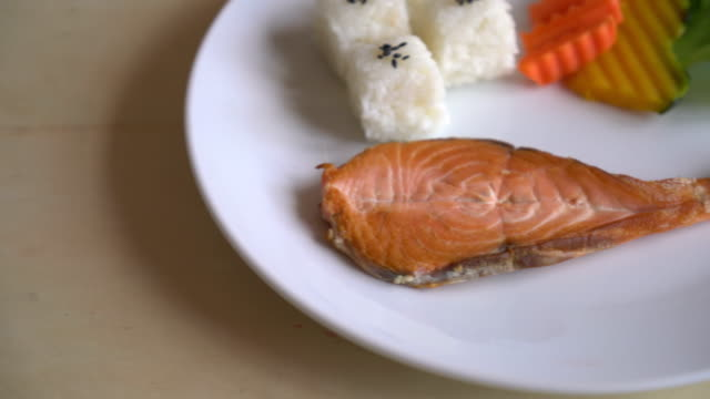 salmon steak - japanese food style