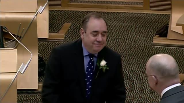 salmond wins judicial review of scottish government's handling of sexual harassment allegations lib / tx edinburgh scottish parliament int various... - alex salmond stock videos & royalty-free footage